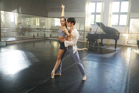 "Juliet Doherty and Thomas Doherty star in ""High Strung Free Dance."" (High Strung Free Dance)"