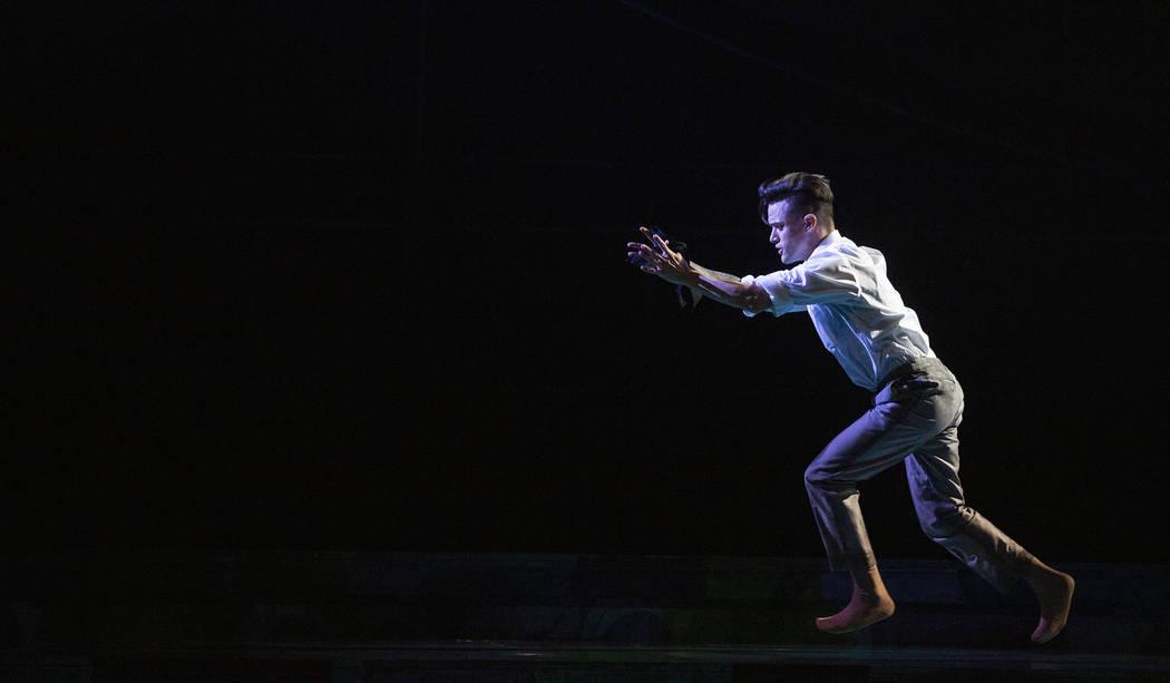 """Anthony Cardona from Cirque du Soleil runs through a piece called """"Life Among the Gorillas ..."""