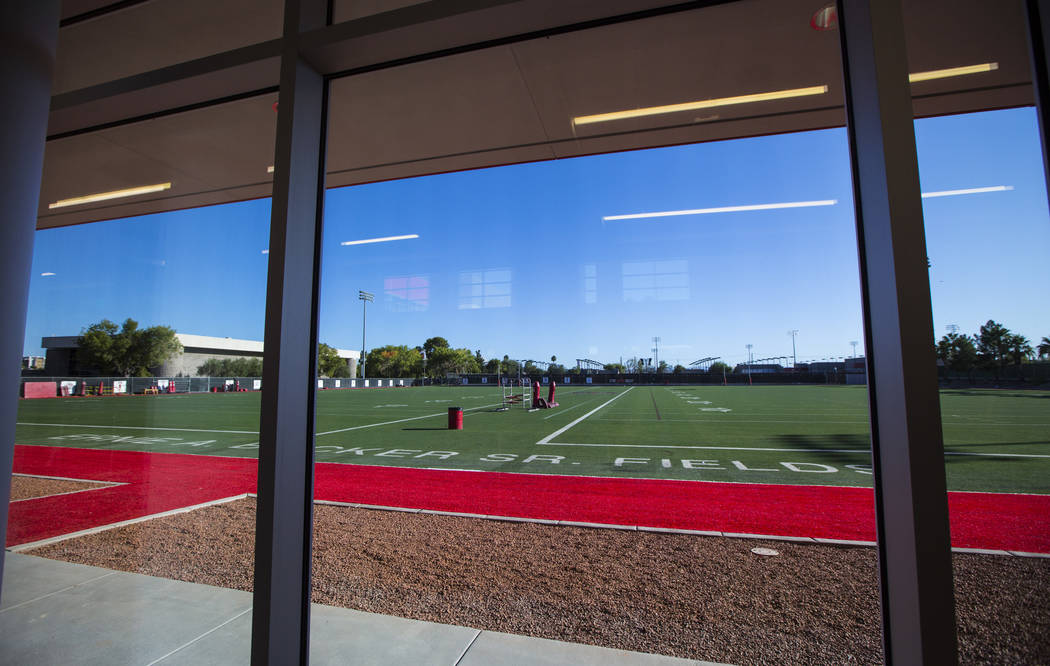 A view of Rebel Park from the Fertitta Football Complex following the ribbon cutting ceremony a ...
