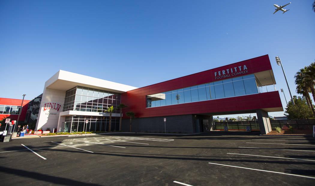 The Fertitta Football Complex at UNLV in Las Vegas on Thursday, Oct. 3, 2019. (Chase Stevens/La ...