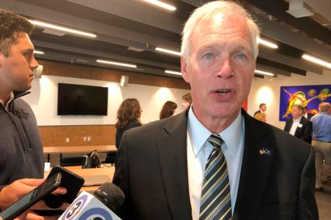 Republican U.S. Sen. Ron Johnson, of Wisconsin, says there is nothing improper with President D ...