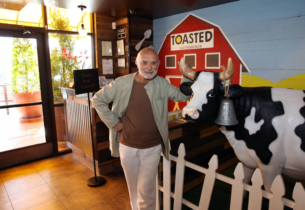 Sami Ladeki, owner of Toasted Gastrobrunch, poses for a photo at his restaurant at 9516 W. Flam ...