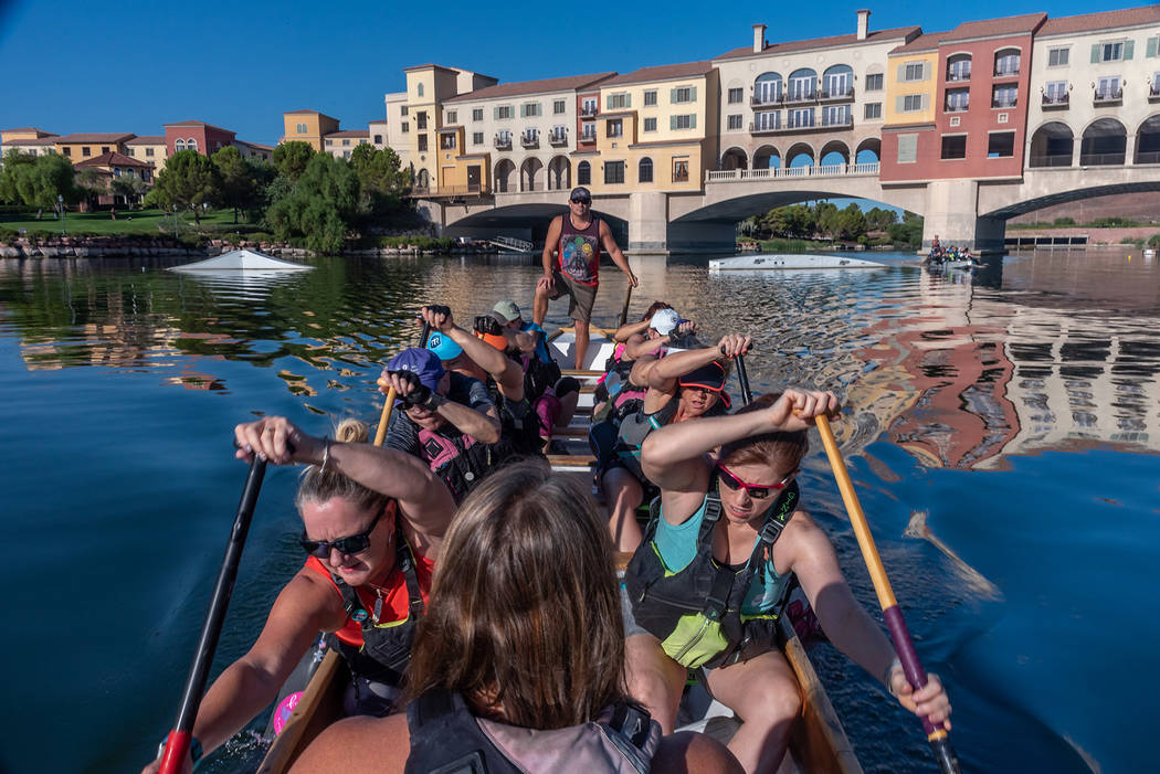 Lavonne Hing A race team practices for the 2019 Rose Regatta Dragon Boat Festival, scheduled fo ...