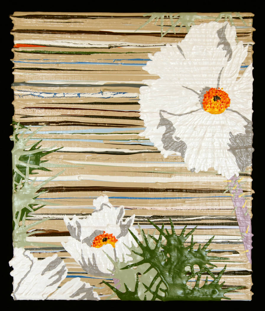 """Jeff Fulmer's """"Prickly Poppy"""" acrylic. Jeff Fulmer is one of 12 artists with works featured in ..."""