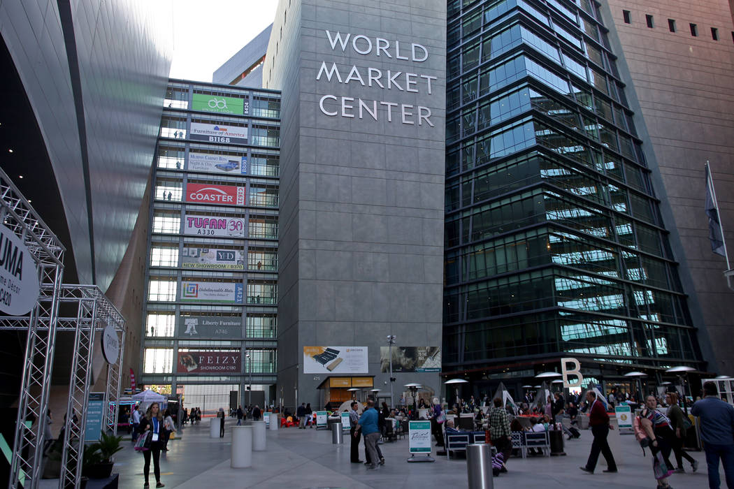 The first day of the Las Vegas Market at the World Market Center in Las Vegas, Sunday, Jan. 27, ...