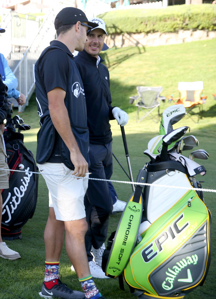 Chase Koepka waits to tee off at the 10th hole during second round of Shriners Hospitals for Ch ...