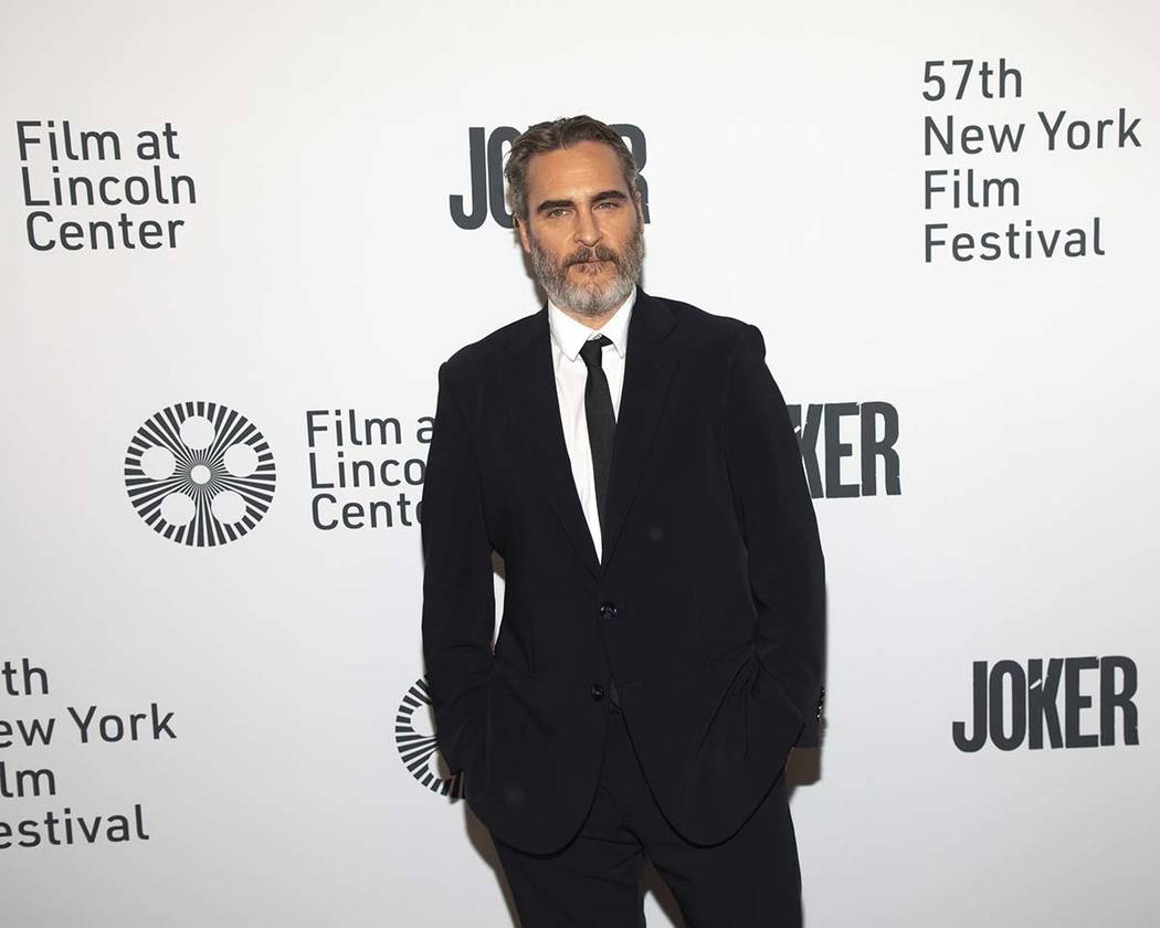 "Actor Joaquin Phoenix attends the ""Joker"" premiere at Alice Tully Hall during the 57t ..."