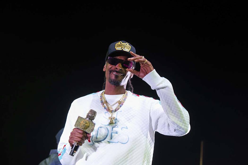 FILE - In this Jan. 5, 2019 file photo, Snoop Dogg performs onstage at State Farm Arena in Atla ...