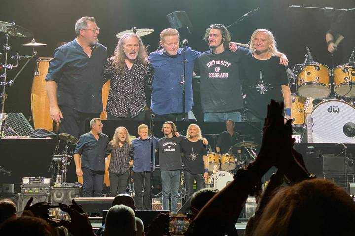 """The latest lineup of the Eagles celebrate their """"Hotel California"""" concert at MGM Grand Garden ..."""