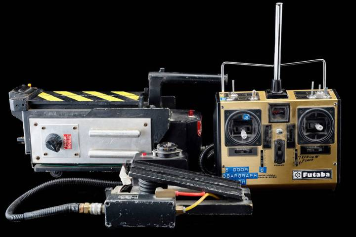 """Some of the props from the classic movie """"Ghostbusters,"""" which are to be on display at Zak Baga ..."""