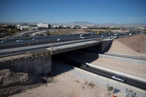 The McCarran Airport Connector construction project on March 16, 2017, in Las Vegas. (Erik Verd ...