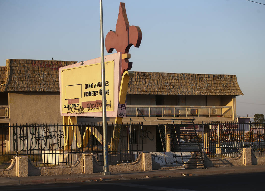 The site of the historic Moulin Rouge after a fire gutted a building the morning of Oct. 5 in L ...