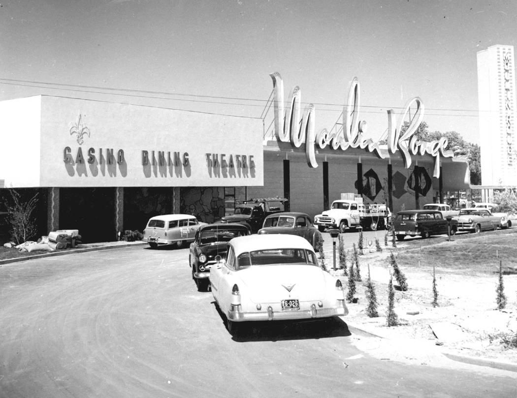 The Moulin Rouge hotel-casino is shown in 1955 in Las Vegas in this photo, (Courtesy Nevada Sta ...