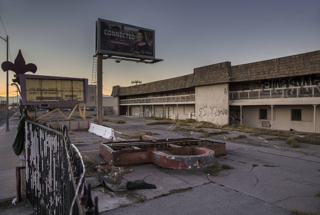 The vacant lot where the Moulin Rouge, the first desegregated hotel-casino listed on the United ...