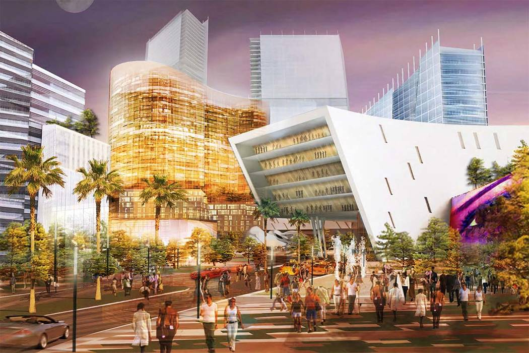Rendering of Moulin Rouge that Las Vegas Moulin Rouge LLC planned to build on the site of the o ...