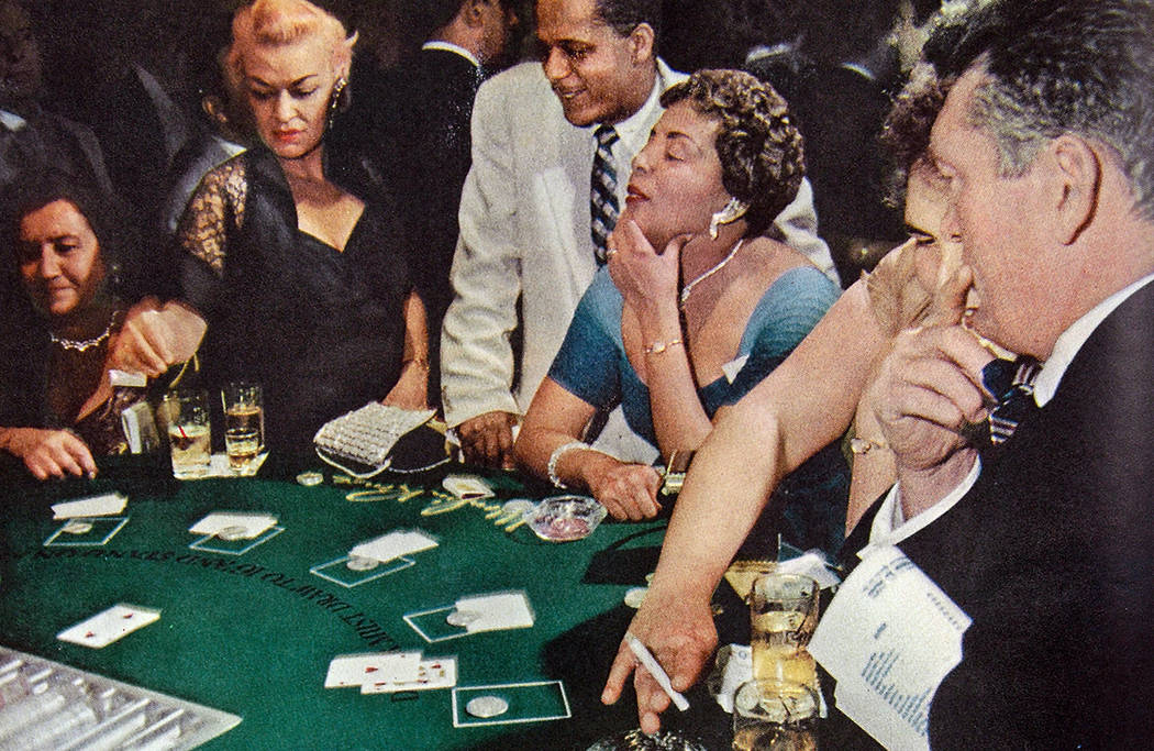 A photo of the blackjack tables at Moulin Rouge appeared in the June 20, 1955 issue of Life Mag ...