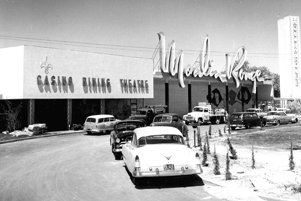 The Moulin Rouge hotel-casino is shown in 1955 in Las Vegas. (Courtesy Nevada State Museum & Hi ...