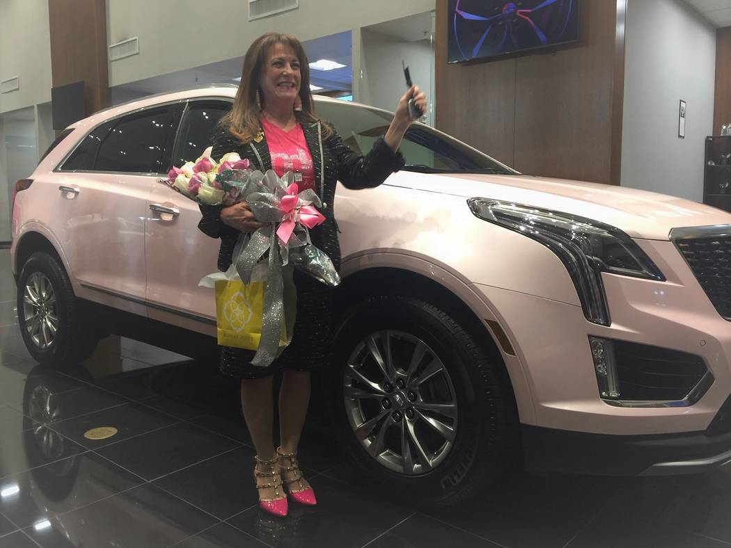 Mary Kay sales consultant Linda Kieper is seen with her 2020 Cadillac XT5 Premium Luxury that s ...