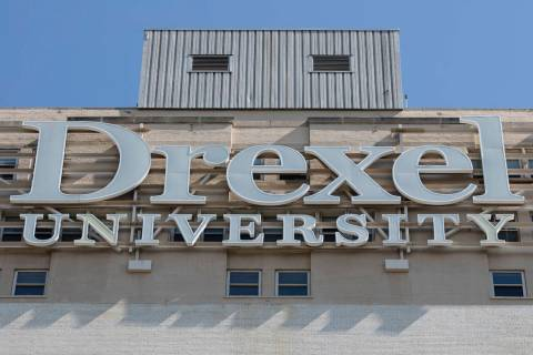 FILE - This file photo shows a sign at Drexel University in Philadelphia on Wednesday, May 5, 2 ...