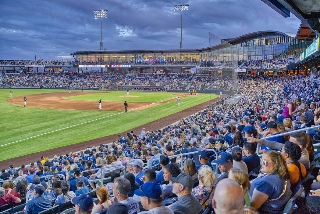 Las Vegas Ballpark in Downtown Summerlin just completed its inaugural season. (Summerlin)