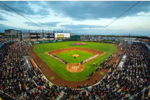 The new Las Vegas Ballpark and the Las Vegas Aviators enjoyed record-setting seasons. (Summerlin)
