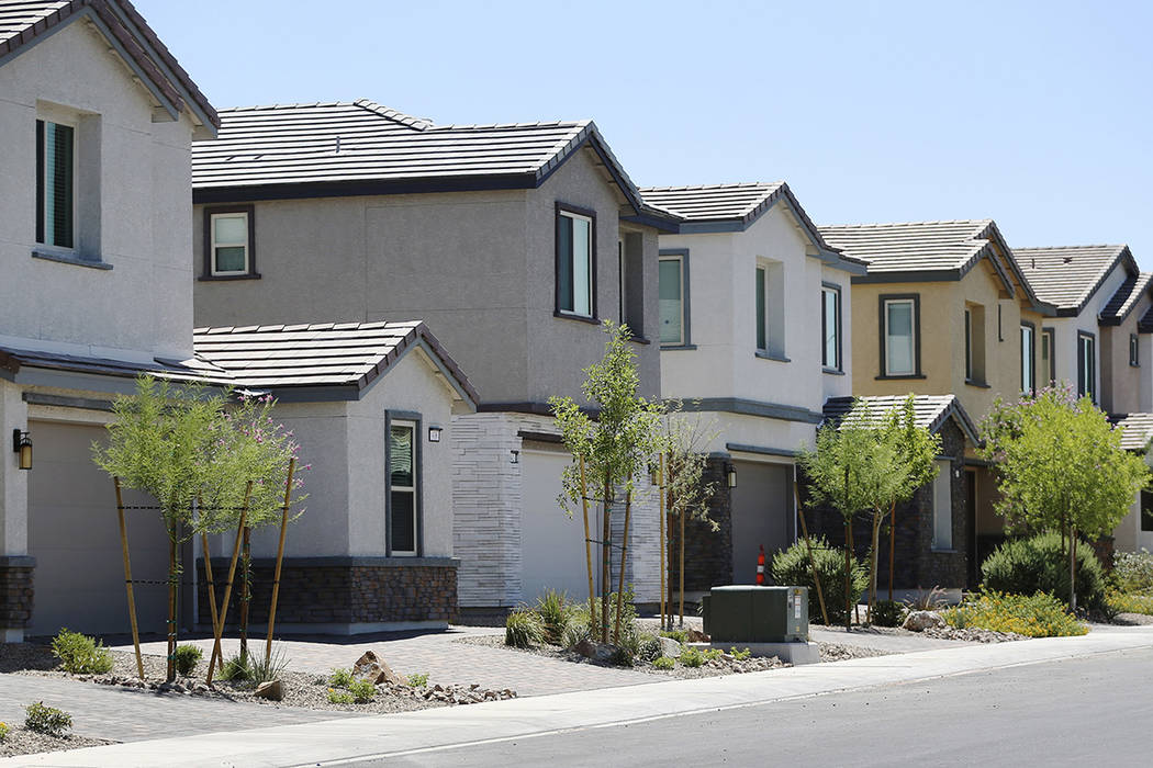 Lennar's Rose Ridge subdivision in Henderson, Aug. 21, 2019. (Erik Verduzco/Las Vegas Review-Jo ...