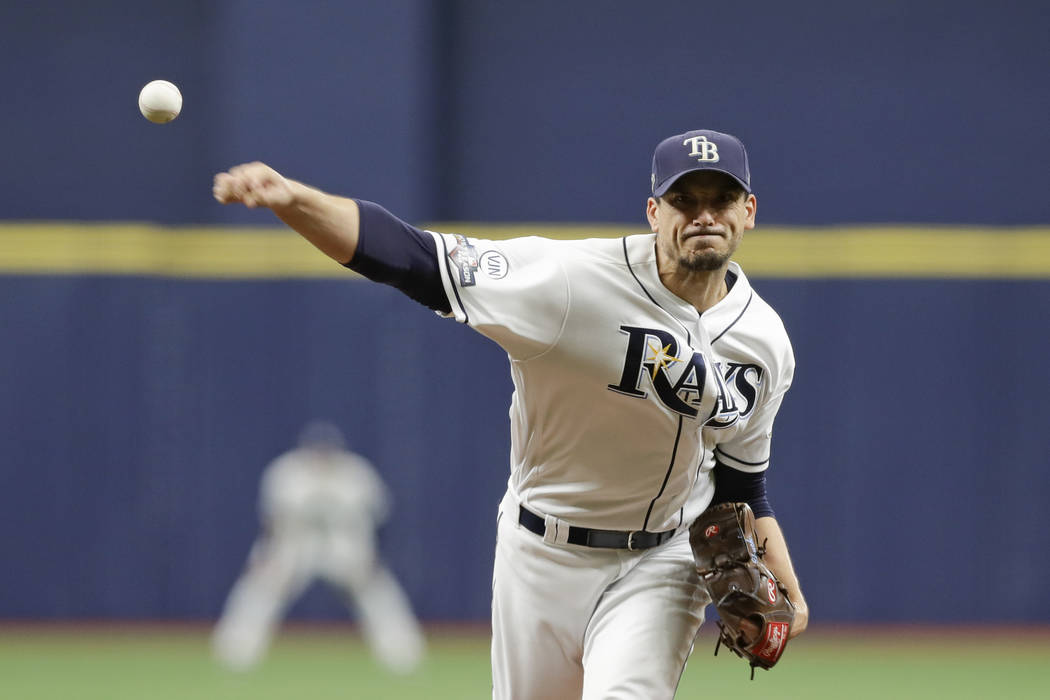 tampa bay rays starting pitcher charlie morton 50 throws during the first inning of game 3 of las vegas review journal tampa bay rays starting pitcher charlie