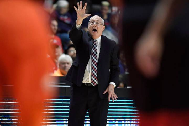 Washington Mystics head coach Mike Thibault gives instructions from the bench during the second ...