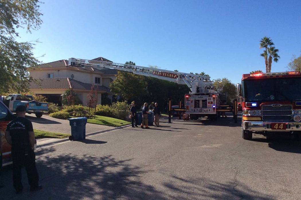 "Two adults and a child are in ""very critical"" condition after a fire inside a two-story hou ..."
