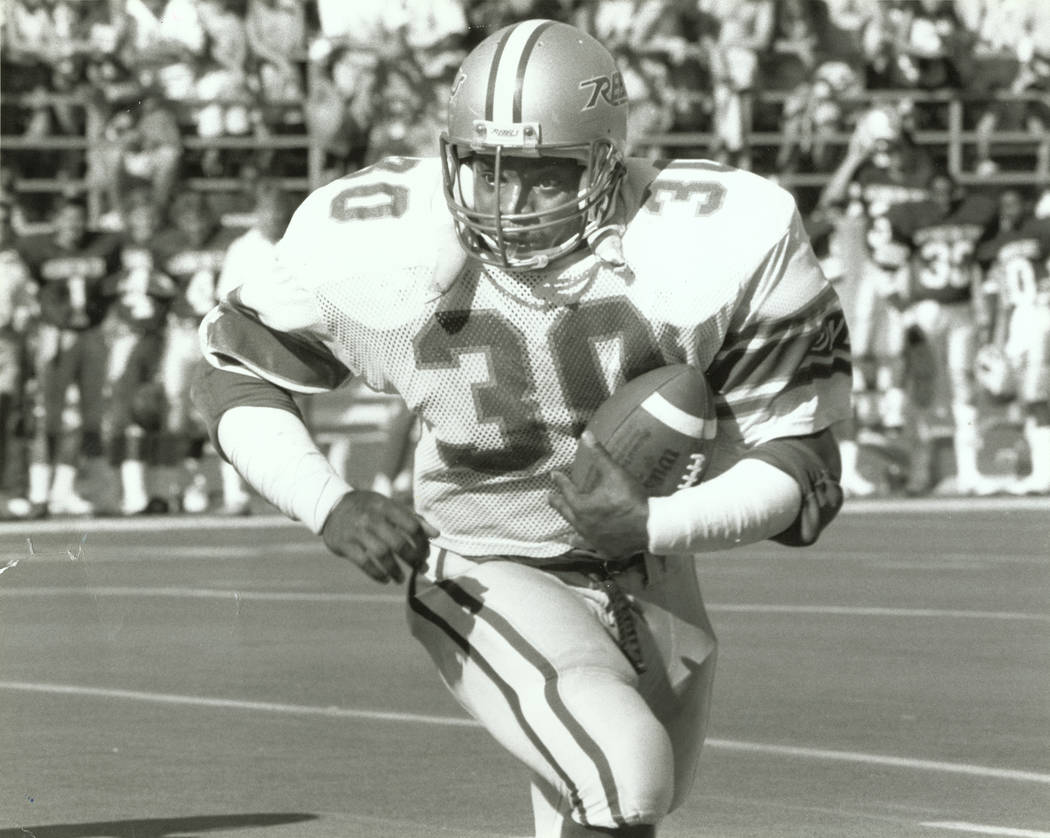 UNLV Rebels running back Ickey Woods (30) plays during a game in this undated file photo. Woods ...