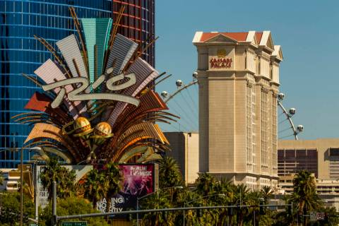 The Rio and Caesars Palace are seen on Tuesday, Oct. 8, 2019 in Las Vegas. Caesars Entertainmen ...