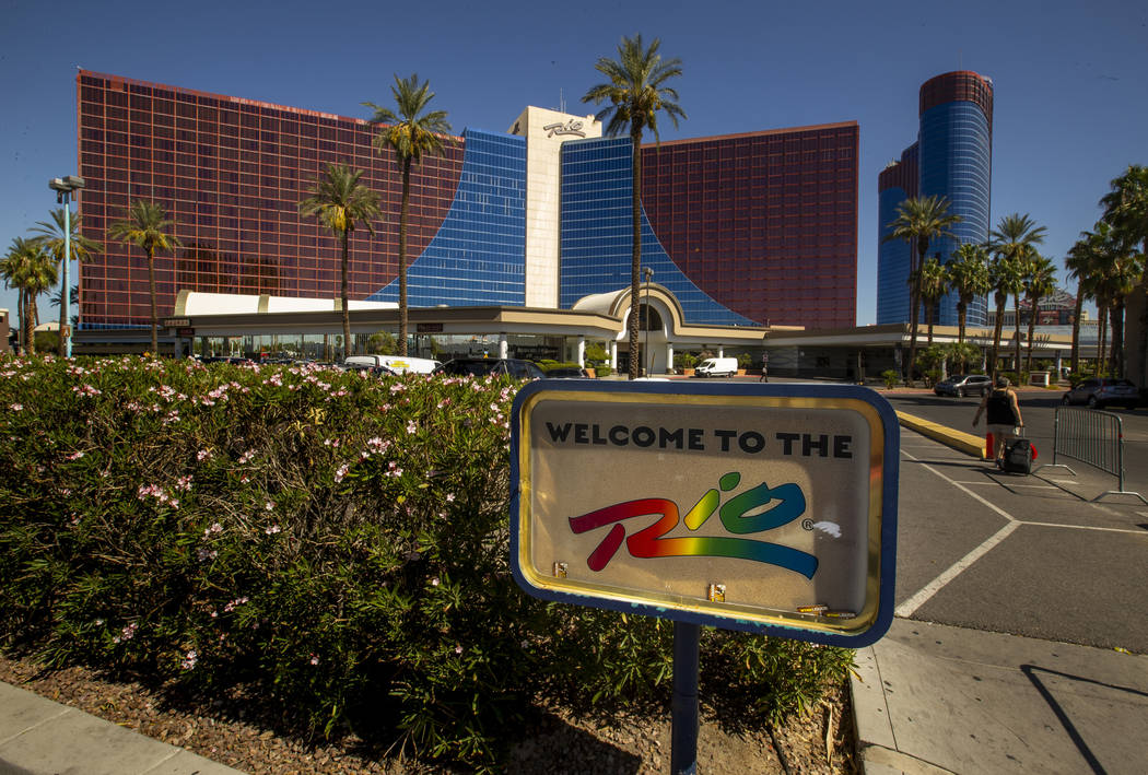 The Rio is seen on Tuesday, Oct. 8, 2019 in Las Vegas. Caesars Entertainment Corp. announces i ...