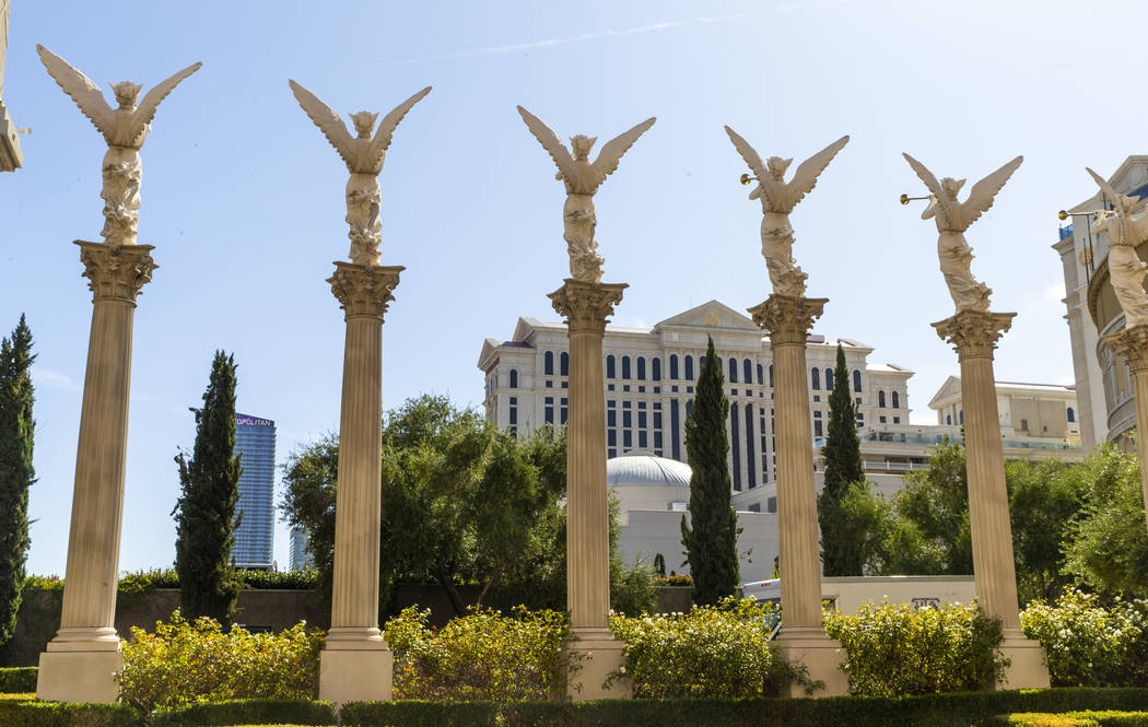 Caesars Palace is seen on Tuesday, Oct. 8, 2019 in Las Vegas. Caesars Entertainment Corp. annou ...