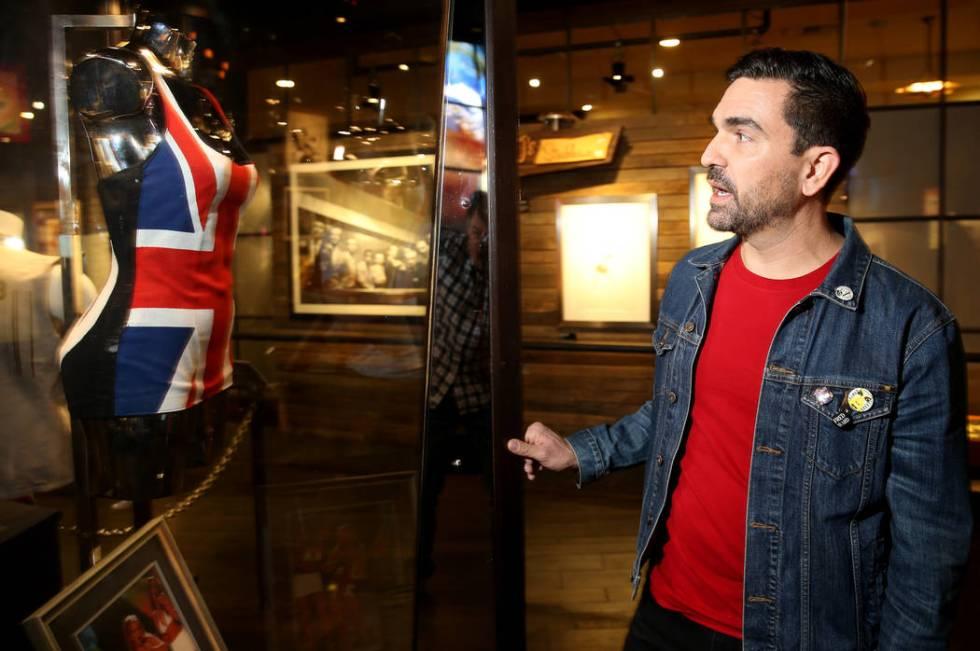 Hard Rock exhibition coordinator Beau Dobney talks about the Spice Girls' Geri Halliwell Union ...