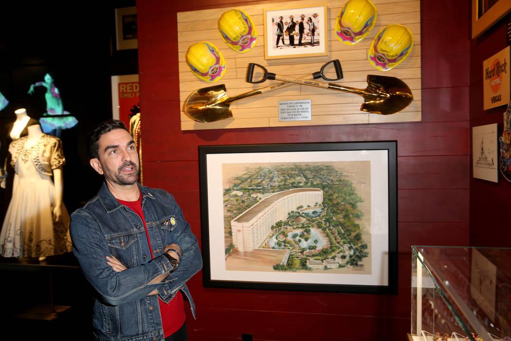 Hard Rock exhibition coordinator Beau Dobney talks about a new rock memorabilia exhibit, which ...