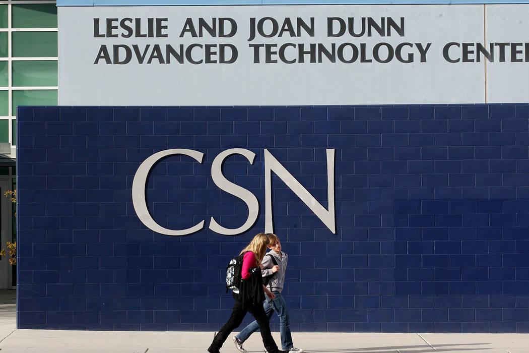 College of Southern Nevada en Henderson. (Las Vegas Review-Journal)