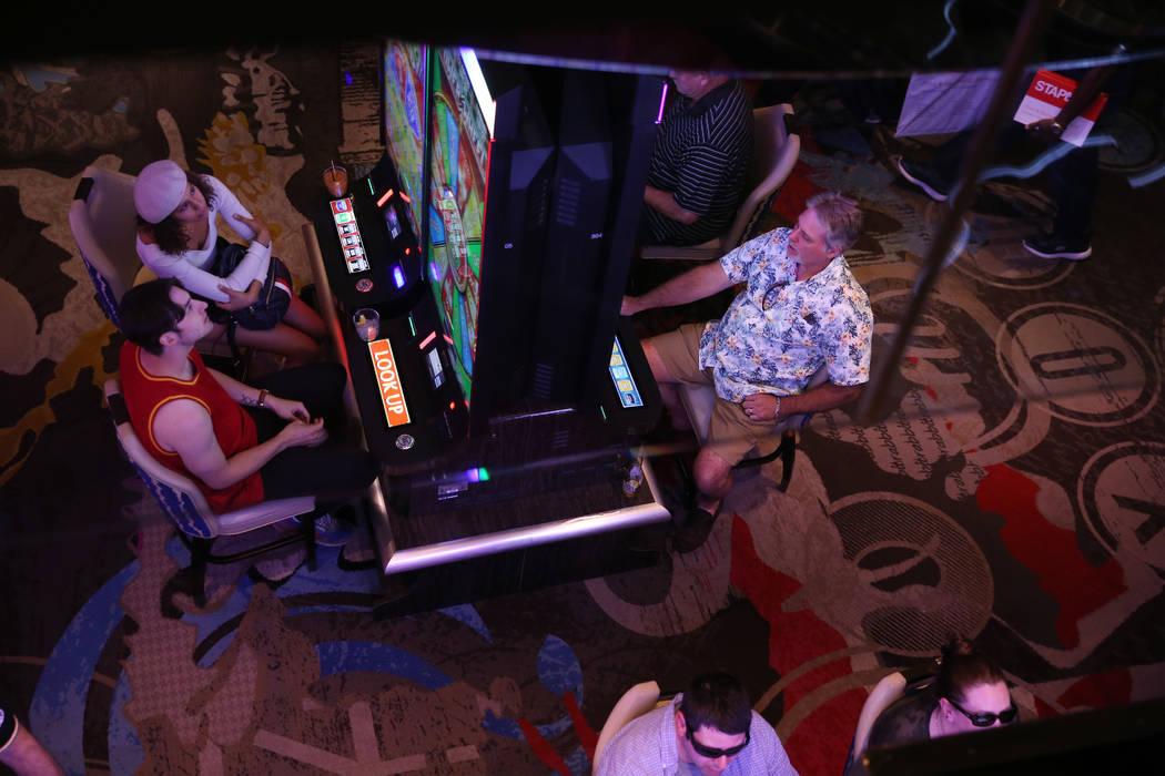 The casino floor at the Cosmopolitan hotel-casino in Las Vegas, Tuesday, Oct. 8, 2019. (Erik Ve ...