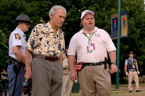 This image released by Warner Bros. Pictures shows writer-director Clint Eastwood, left, and ac ...