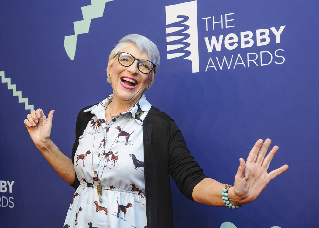 FILE - This May 13, 2019 file photo shows Lisa Lampanelli at the 23rd annual Webby Awards in Ne ...