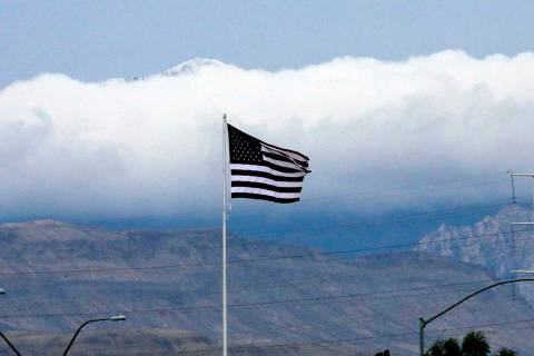 Winds could reach up to 60 mph in the Las Vegas Valley through Friday, according to the Nationa ...