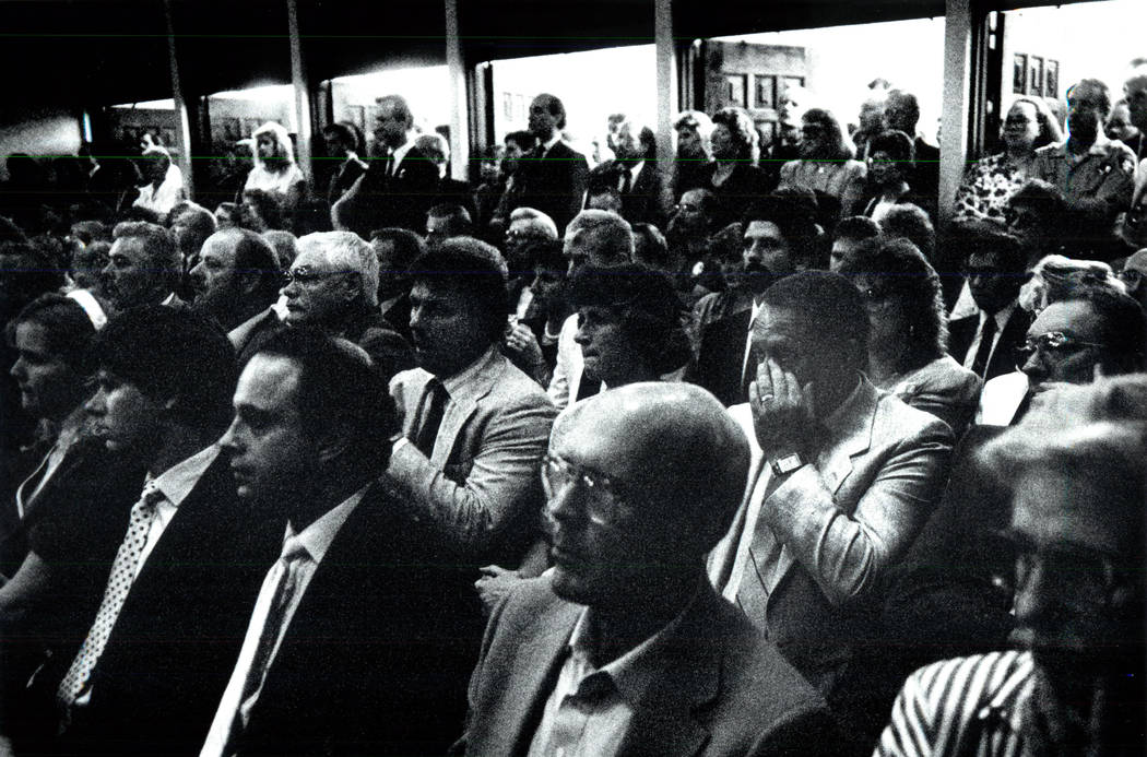 Hundreds gather to show their respects to slain FBI Agent John Bailey during his funeral in 199 ...