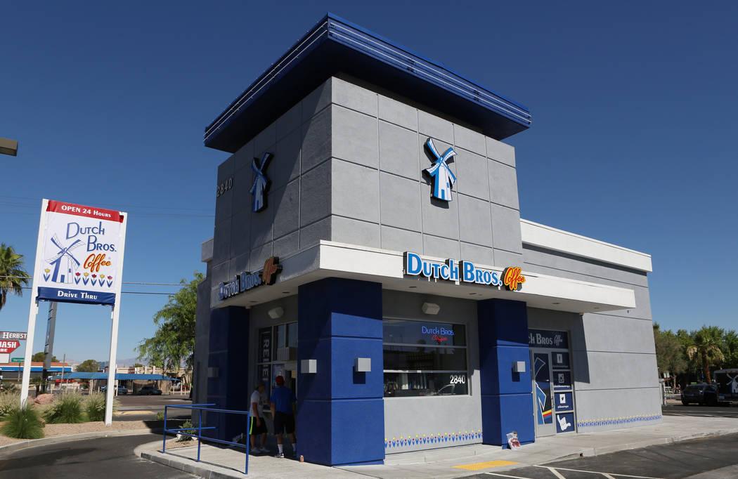 Dutch Bros. coffee shop at 2820 E. Tropicana Ave. is seen on Thursday, June 18, 2015. Dutch Bro ...