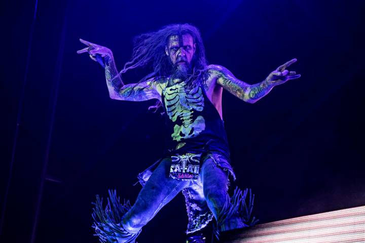Rob Zombie performs during Louder Than Life at Highland Festival Grounds at Kentucky Exposition ...
