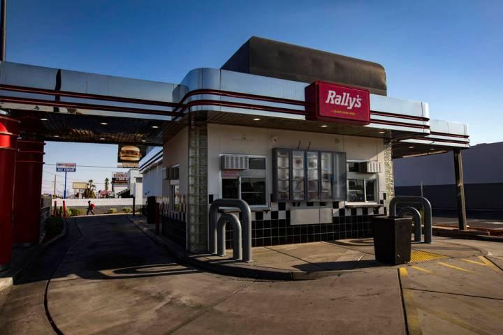 The Rally's fast food restaurant on Desert Inn Road and Boulder Highway in Las Vegas, Wednesday ...