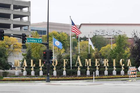 This Sept. 25, 2015, photo shows the Mall of America in Bloomington, Minn. (AP Photo/Jim Mone)