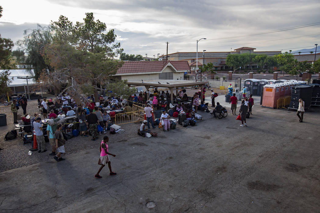 The Courtyard Homeless Resource Center in Las Vegas, Wednesday, July 24, 2019. The center recen ...