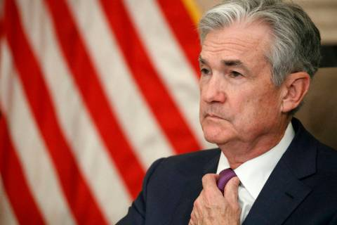 FILE - In this Oct. 4, 2019, file photo Federal Reserve Chairman Jerome Powell attends a panel ...