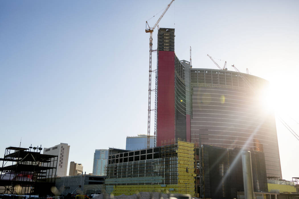 Construction continues on Resorts World Las Vegas, Aug. 29, 2019, in Las Vegas. (Elizabeth Page ...
