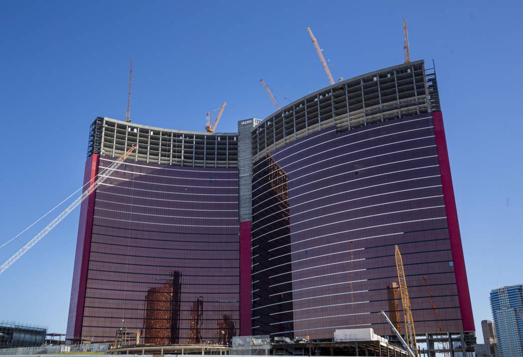 Construction continues on Resorts World Las Vegas, Aug. 29, 2019 in Las Vegas. (Elizabeth Page ...