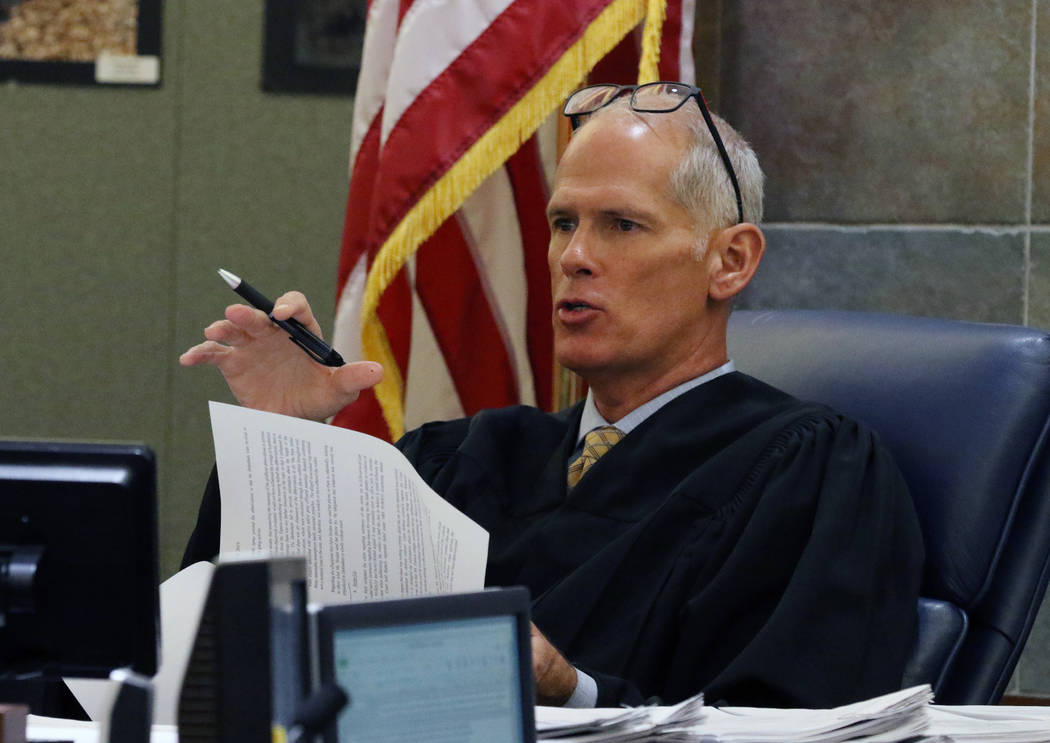 Judge Douglas Herndon presides over Kody Harlan and Jaiden Caruso's, convicted in the slaying o ...